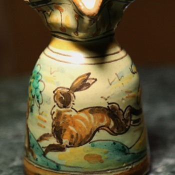 Talavera Niveiro Jug with Leaping Hare - Pottery