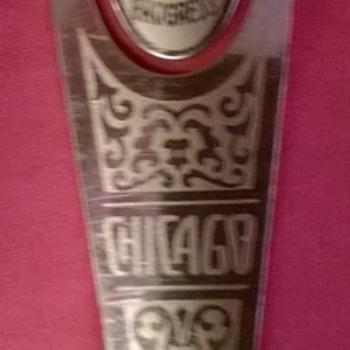 1933 Chicago Fair souvenir bookmark - Advertising