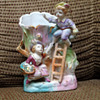 """Vase with ladder & two figurines stamped """"Japan"""""""