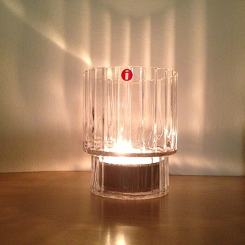 Iittala stepped glass candle holder / tumbler ?