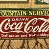 8ft  Coca Cola fountain service sign