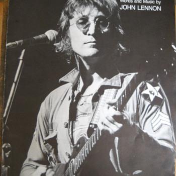 """1971 JOHN LENNON """" IMAGINE""""  SHEET MUSIC"""