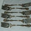 Antique WM A Roger A.1. Fancy Silver Forks