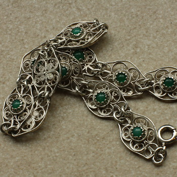 Silver filigree bracelet - Fine Jewelry