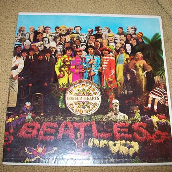 Beatles Lonely Heart Vinyl Album  - Music Memorabilia