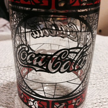 my misprinted stained glass design coca cola glass - Coca-Cola