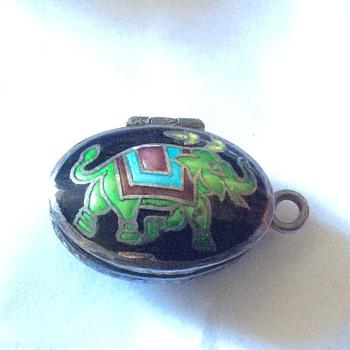 Old enamel pendant