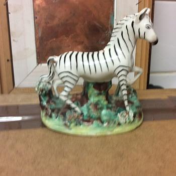 Staffordshire zebra figure rare model 1820-30 - China and Dinnerware