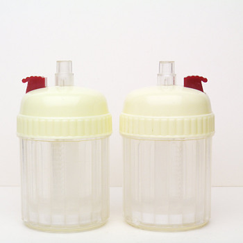1960´s CZECHOSLOVAK CAMPING PLASTIC SALT AND PEPPER SHAKERS