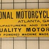 National Motor Cycle Sign