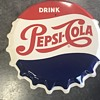 Pepsi bottle cap sign 1964