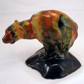 RABADE Art pottery drip glaze bear - Who is RABADE???? - Pottery
