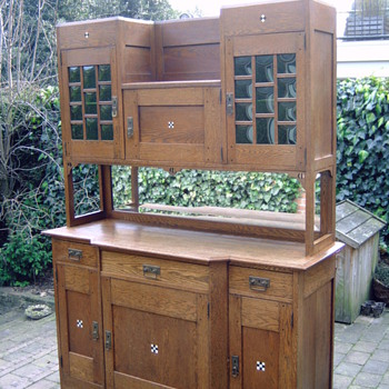 Big Dutch deco cupboard ''Onder den Sint Maarten'' - Arts and Crafts