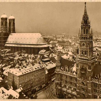 Early Photo Card of Marienplatz Munich Germany - Photographs