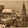Early Photo Card of Marienplatz Munich Germany