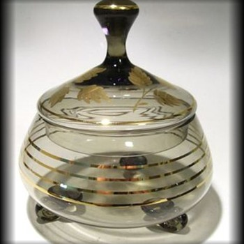 Unknown Candy lidded Dish / Bowl ( Czech ?? ) - Art Glass
