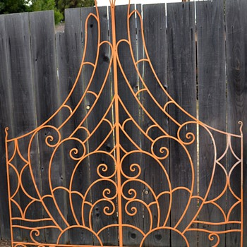 Let me see yo grill!! - Large Deco Wrought Iron Piece - Art Deco