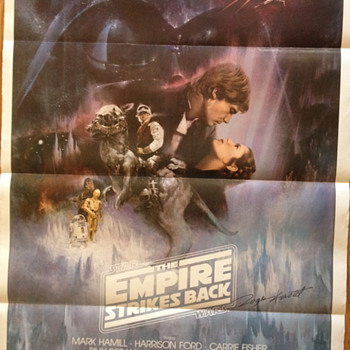 Roger Kastel, signed Empire Strikes Back poster - Movies