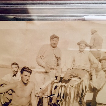 Babe Ruth & Teammate George Pipgras Fishing Type 1 Snapshot (From Pipgras Estate) - Baseball