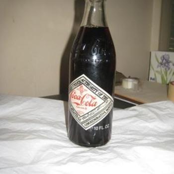 75 year commemorative Coke bottle