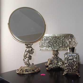 Matson stand mirror and perfume and Globe towel holder - Accessories