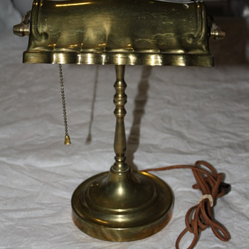 Brass Banker's Lamp - Lamps