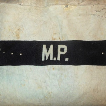 World War 2 USMC Military Police MP Armband - Military and Wartime