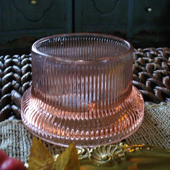 Pink Depression Glass Candleholder or Candy Holder? - Glassware