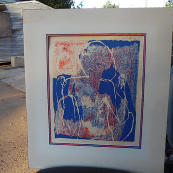 Vintage Artist Proof Abstract  Signed