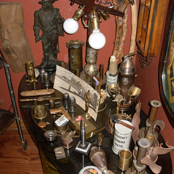 Various Trench Art Items and Other Collectibles - Military and Wartime