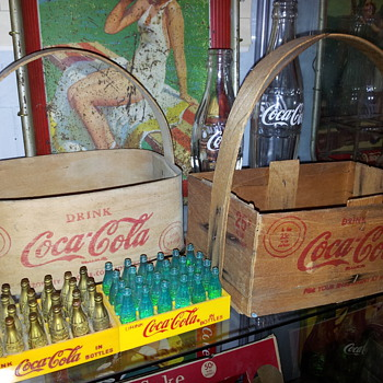Coca-cola Wood & Plastic Carriers - Coca-Cola
