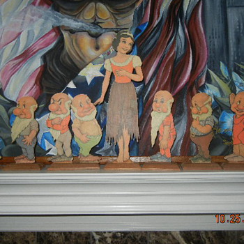 HELP ID MAKER EARLY SNOW WHITE WOOD LITHO STAND UP TOY DOLL CHARACTERS