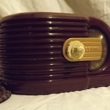 1938 Zenith Art Deco Bakelite Radio - Radios