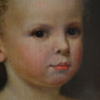 19th Century Antique Oil Portrait Of A Little Girl