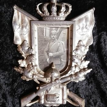 WW I German Military Picture Frame. - Fine Art