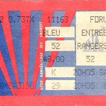 Montreal Canadiens Ticket Stub..the Forum