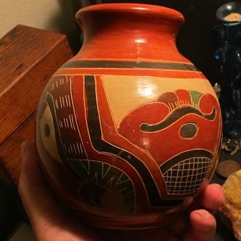 Indian pottery vase  - Pottery