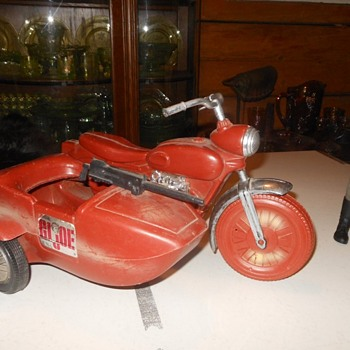 GI Joe Irwin Motorcycle With Sidecar Circa 1966 - Toys