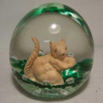 Gibson Squirrel & Beaver - Art Glass
