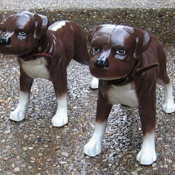 Cast Iron Staffordshire Bull Terriers - Animals