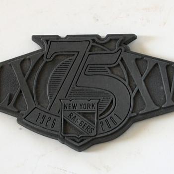 NY Rangers' Commemorative Item