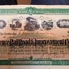 Railroad stock certificate from 1888