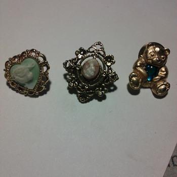 Three pins  - Costume Jewelry