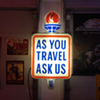 "50's-60's Standard Oil...""As You Travel Ask Us""... lighted sign with torch"