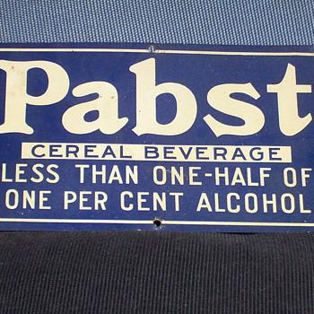 Small sign. - Breweriana