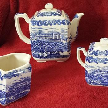 Blue Print China Tea Set - China and Dinnerware