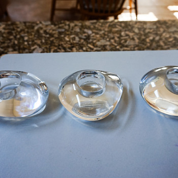 Orrefors Candle Holders