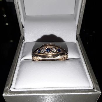 Sapphire and diamond Gypsy ring. - Fine Jewelry