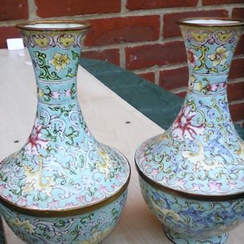 My cloisonne vases  - Asian