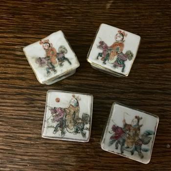 Mini Asian trinket boxes - Asian